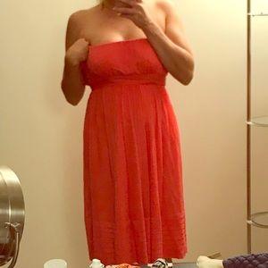 Salmon J Crew Strapless Dress